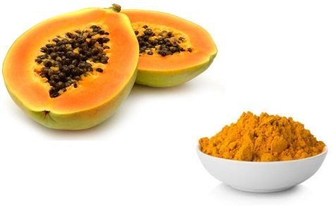 Papaya and Turmeric Paste