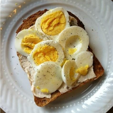 Peppered Soft Boiled Egg Toast