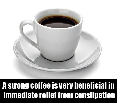 Coffee for constipation