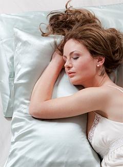 sleep on a satin pillow