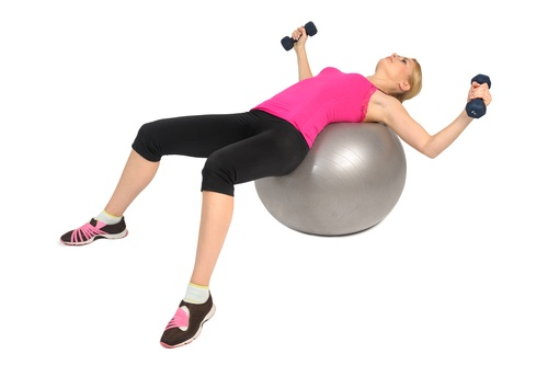 Stability Fitness Ball Leg Curls, Female Butt Exercise, phase 1 of 2