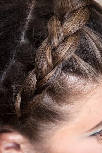 braid girl close up