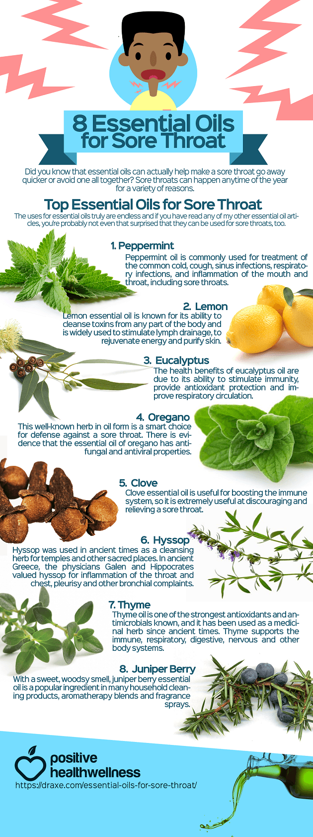 8 Essential Oils For Sore Throat