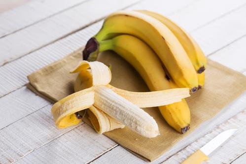 Bananas on towel