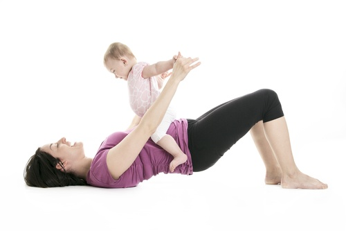 mother and baby gymnastics yoga