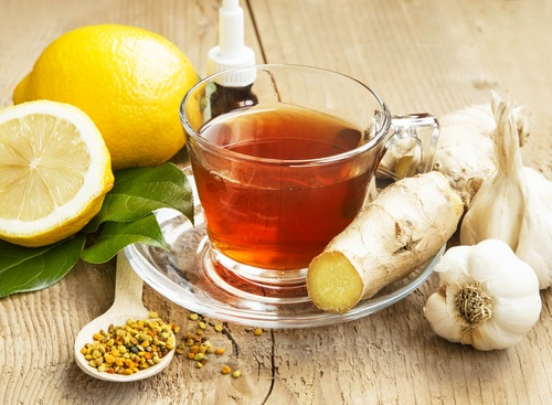 Lemon Tea with Ginger.Alternative Medicine
