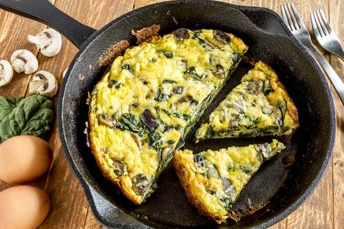 Spinach Mushroom and Egg Frittata