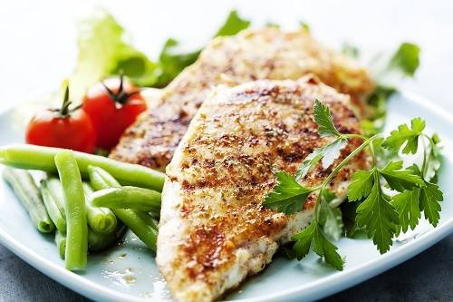 Grilled chicken brest fillet