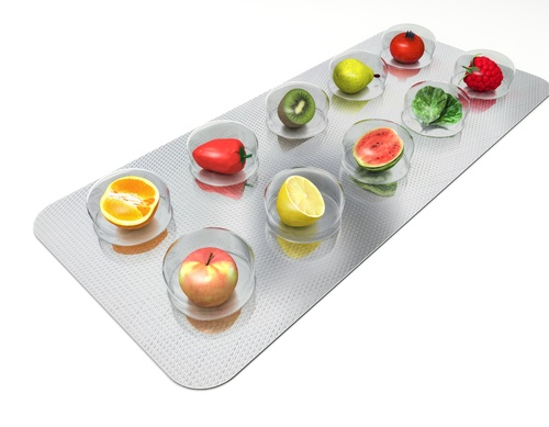 Natural vitamin pills