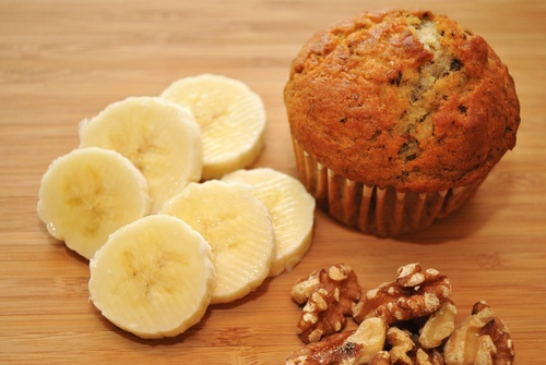 Healthy Banana Nut Muffin Snack