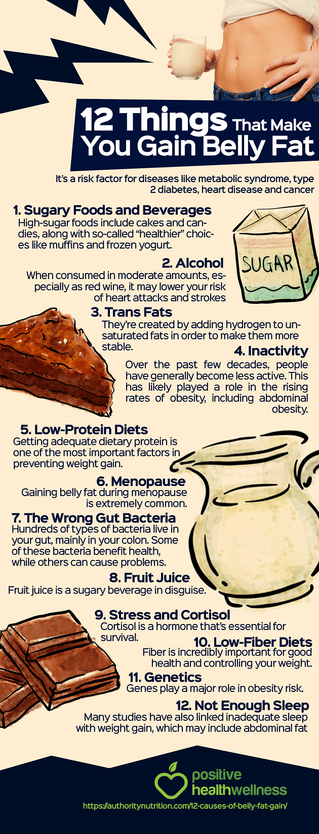 12 Things That Make You Gain Belly Fat