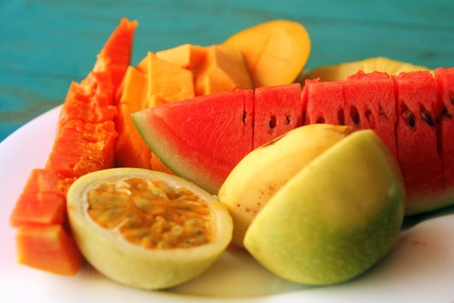 mix of tropical fruit