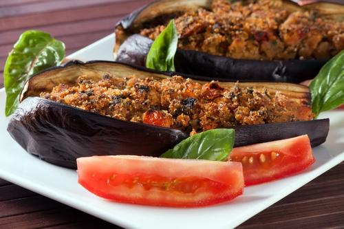Melanzane ripiene al forno - Stuffed Eggplant oven baked