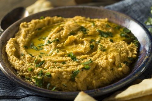 Homemade Greek Pumpkin Hummus