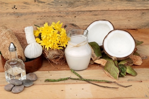 Coconut and milk , oil coco for organic healthy food and beauty