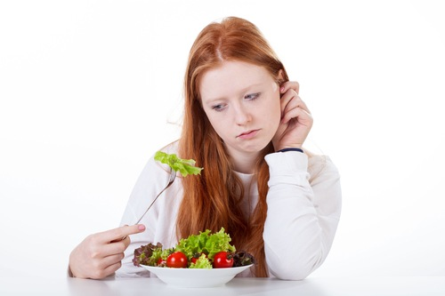 Teenage girl with no appetite