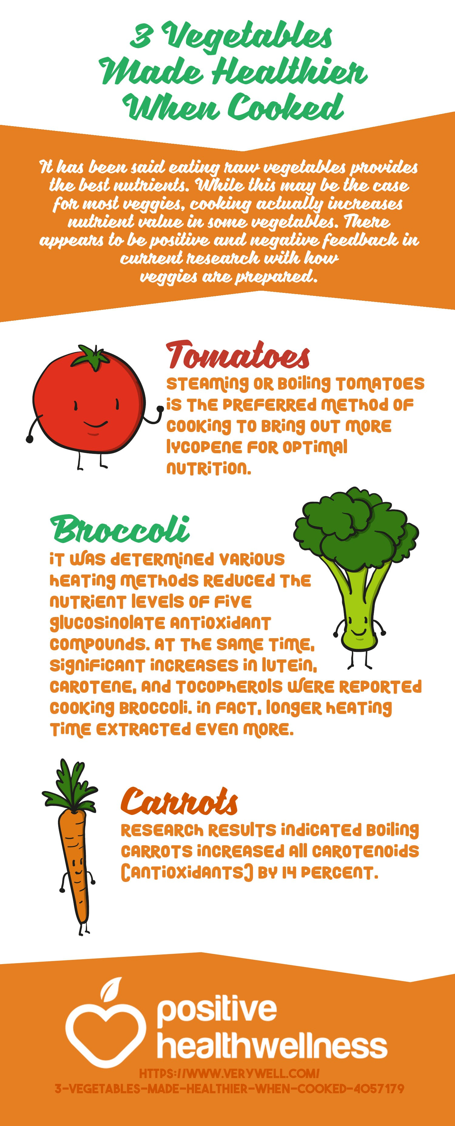 3 Vegetables Made Healthier When Cooked
