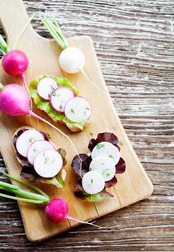 Appetizer with radish