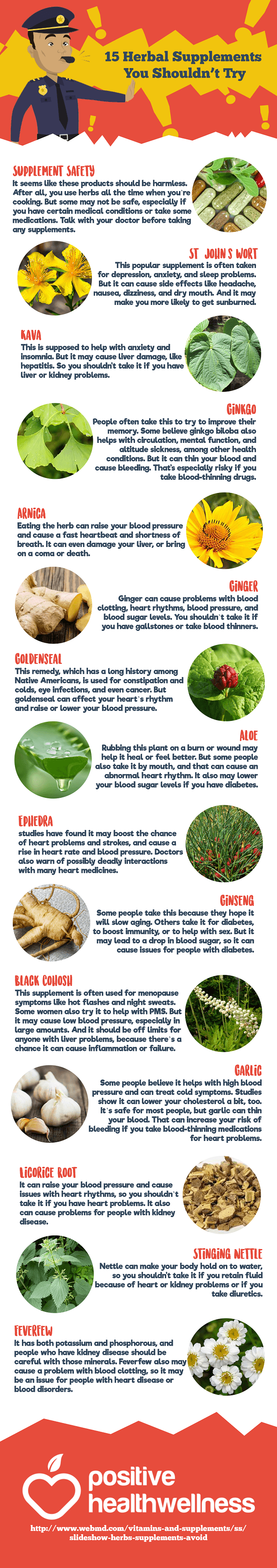 15 Herbal Supplements You Shouldn't Try