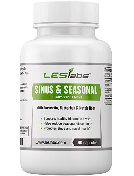 Sinus Seasonal 60 Vegetarian Capsules By Les Labs: What's The Best Allergy Medication For Pollen Season