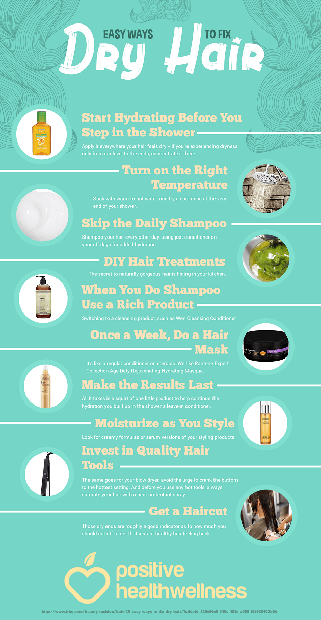 10 Easy Ways To Fix Dry Hair