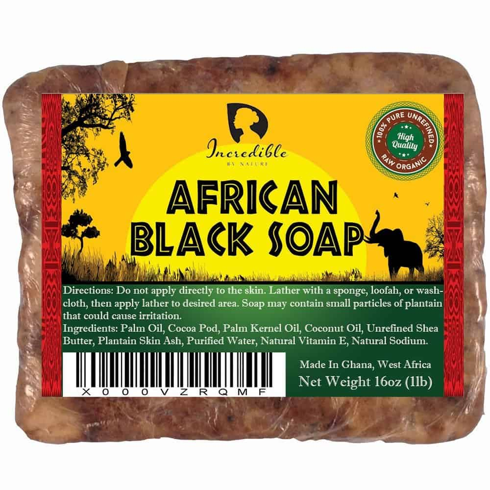 African Black Soap 1 - The Best Exfoliating Cream for Acne Prone Skin