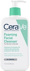 CeraVe Foaming Facial Cleanser 1 129x300 - The Best Exfoliating Cream for Acne Prone Skin