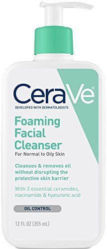 CeraVe Foaming Facial Cleanser 1 - The Best Exfoliating Cream for Acne Prone Skin
