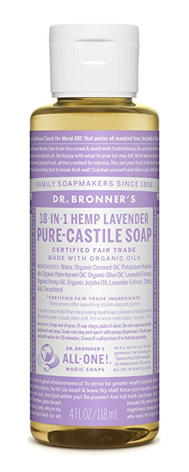 Dr. Bronner Almond Pure Castile Liquid Soap - Best Skin Care Supplement for Teenagers