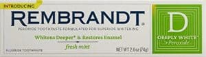 Rembrandt Deeply White Whitening Fluoride Toothpaste Mint 300x83 - What are the Finest Tooth Whitening Merchandise in 2018