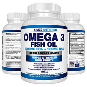 Arazo Nutrition Omega 3 Fish Oil  300x300 - What Is The Finest Omega Three Complement in 2018