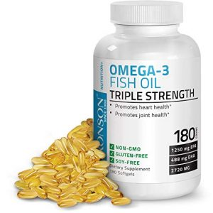 Bronson Omega 3 Fish Oil Triple Strength 300x300 - What Is The Finest Omega Three Complement in 2018