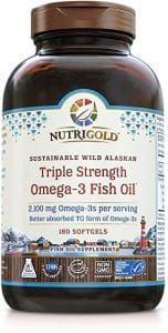 Nutrigold Triple Strength Omega 3 Fish Oil Supplement 152x300 - What Is The Finest Omega Three Complement in 2018