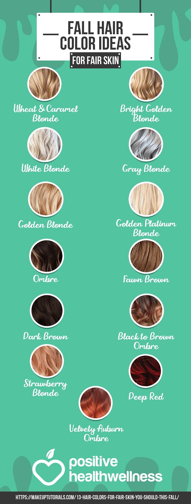 13 Fall Hair Color Ideas For Fair Skin